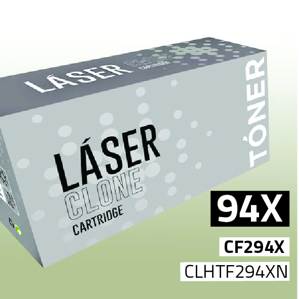 Clone para HP CF294X (94X) Kit Toner Black (2.800 Copias)