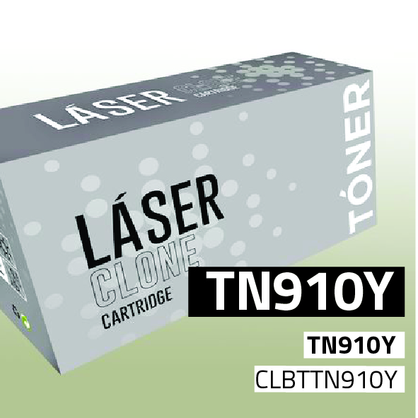 Clone para Brother TN910Y Kit Toner Yellow (9.000 Copias)
