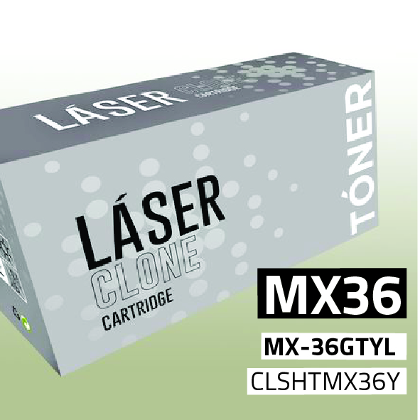 Clone para Sharp MX36 (MX-36GTYL) Kit Toner Yellow (15.000 Copias)