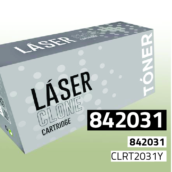 Clone para Ricoh 842031 Kit Toner Yellow (15.000 Copias)
