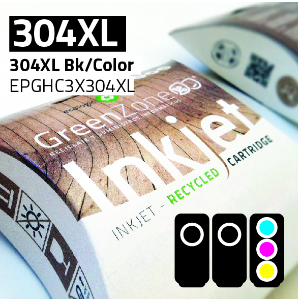 Economy Pack HP 304XL Bk (2 Und) + 304XL Color + REGALO Papel Photo A6