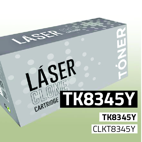 Clone para Kyocera TK8345Y Kit Toner Yellow (15.000 Copias)